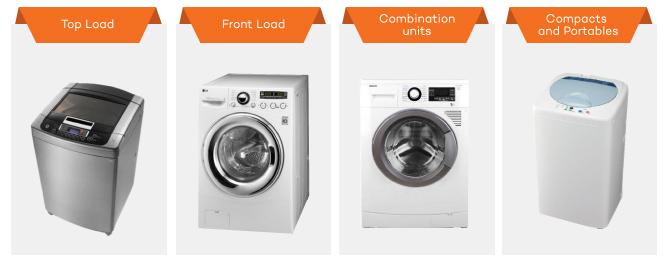 washing machine size comparison
