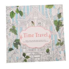 Yingwei Coloring Book Enchanted Forest 24 Pages English Daftar Source LALANG Secret Garden Time Travel Painting Edition