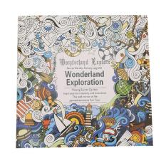 Yingwei Coloring Book Enchanted Forest 24 Pages English Daftar Source LALANG Secret Garden Wonderland Exploration Painting Edition