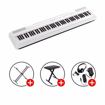 Yamaha P-115 Digital Piano (White) with X-stand & X-bench