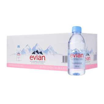 Evian Prestige Natural Mineral Water - 24 x 330ML
