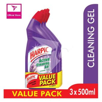 Harpic Liquid Lavender Fresh 500ML Value Pack 3S