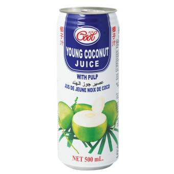 Ice Cool Young Coconut Juice with Pulp 500ml - 24 per pack
