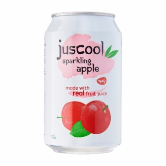 Juscool Sparkling Apple - 325 ml x 24 cans