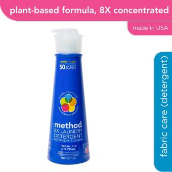 method 8X laundry detergent - fresh air 600ml (50 loads)