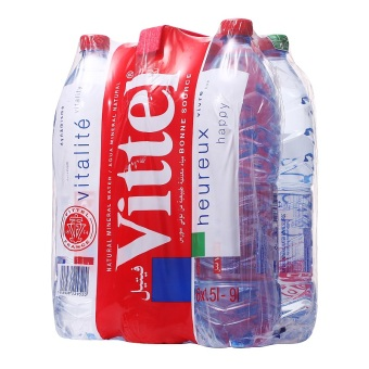 VITTEL Natural Mineral Water 6 x 1500ml