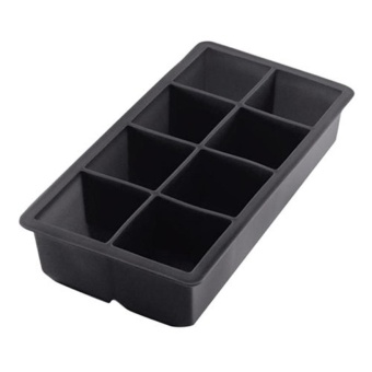 Black Big King Size Large Silicone Ice Cube Square Tray Mold Mould - intl