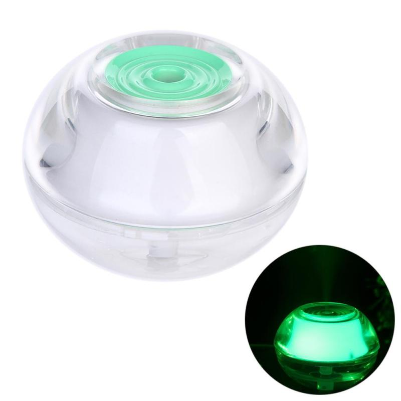 Colorful LED Night Light USB Humidifier Air Diffuser Aroma Mist Maker(Green) - intl Singapore