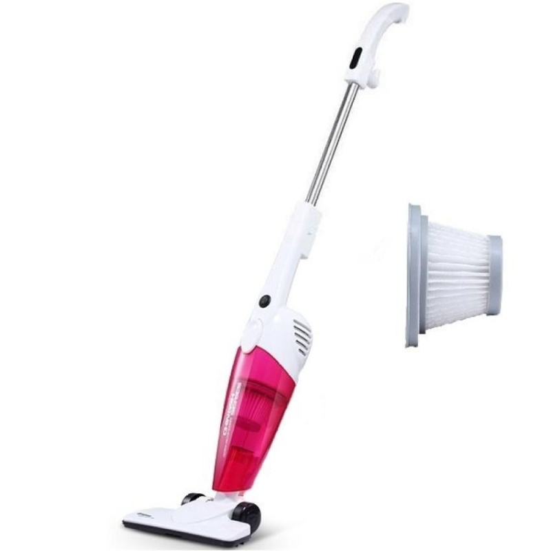 Deerma DX118C 2 in 1Push-Rod Handheld Vacuum Cleaner (Pink) + Extra 1 Pcs Filter  - intl Singapore