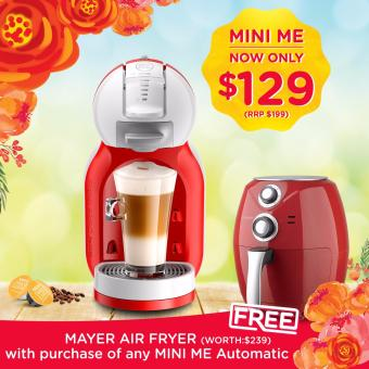 (FREE Mayer Air Fryer) NESCAFÉ® Dolce Gusto® Mini Me Coffee Machine(Red)