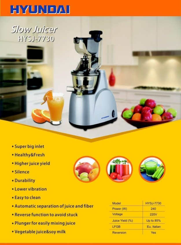 Hyundai Slow Juicer Hysj 7730 : Philips Juicer Singapore - Shop Philips Fruit Extractor Lazada