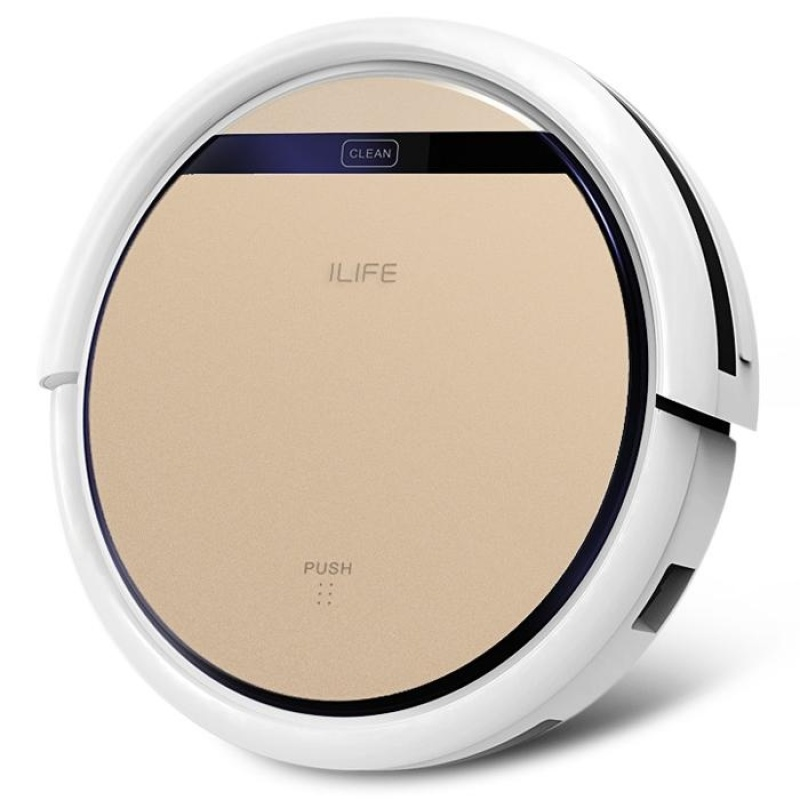 ILIFE V5S Pro Intelligent Robotic Vacuum Cleaner Cordless Dry Wet Sweeping Cleaning Machine (US PLUG) (Gold) - intl Singapore