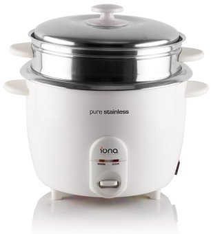 Iona GLRC181 Stainless Steel Rice Cooker with Steamer 1.8L
