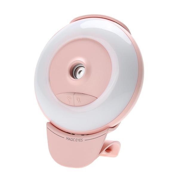 Mini Luminous Humidifier USB Nano Mister Facial Moisturizing Spray (Pink) - intl Singapore