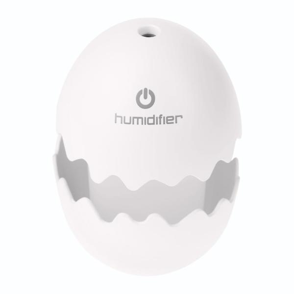 Mini USB Egg Ultrasonic Humidifier LED Night Light for Home Office (White) - intl Singapore