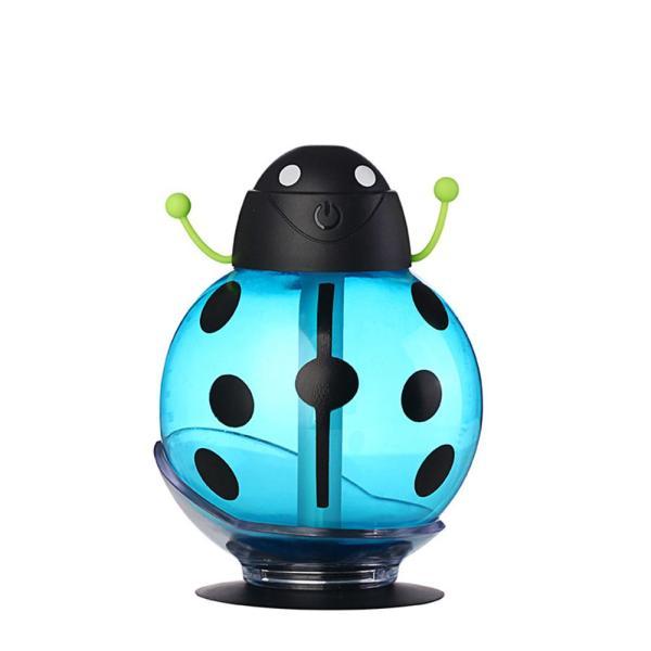 Mini USB Humidifier Beetle Night Light Home Office Air Diffuser (Blue) - intl Singapore