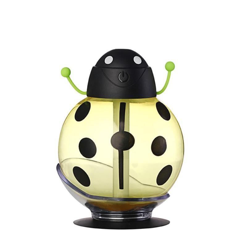 Mini USB Humidifier Beetle Night Light Home Office Air Diffuser (Yellow) - intl Singapore