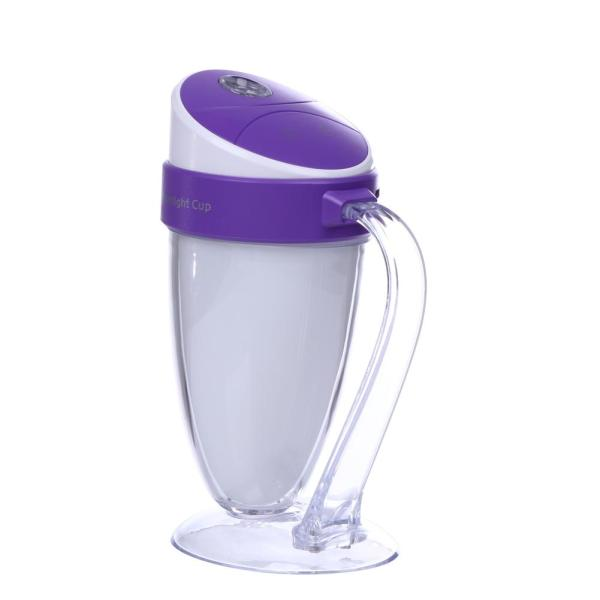 Moonlight Cup Water Cup Humidifier Colorful Car Home Humidifier(Purple) - intl Singapore