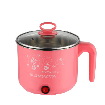 Multi-function Stainless Steel Electric Cooker, Electric Cooker,Electric Hot Pot-Pink