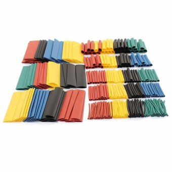New 10 Sizes 2:1 Heat Shrink Tubing Kit Five Colors 1.0mm-10mm280PCS in box - intl