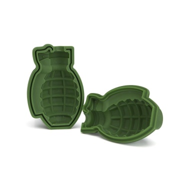 niceEshop 3D Grenade Shape Ice Cube Mold Maker Bar Party Silicone Trays Mold Gift Tool - intl
