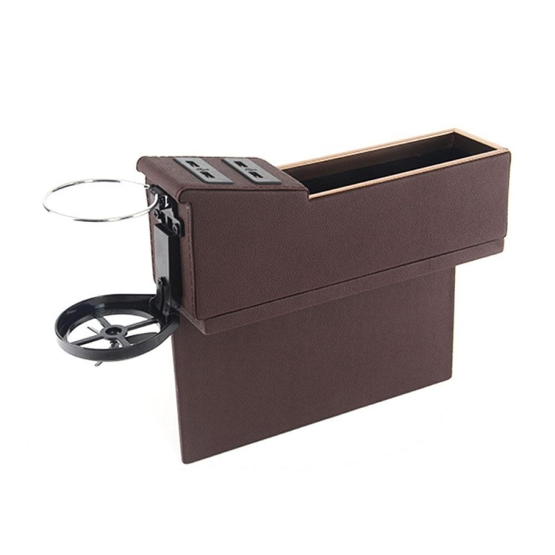 nonvoful Car Pocket Organizer Seat Console Filler Side with Foldable Cup Holder and 4 USB Charge Port - intl Singapore