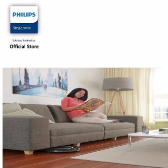 Philips FC8710/01 SmartPro Compact Robot Vacuum Cleaner with Super Slim Design (6cm) - Black