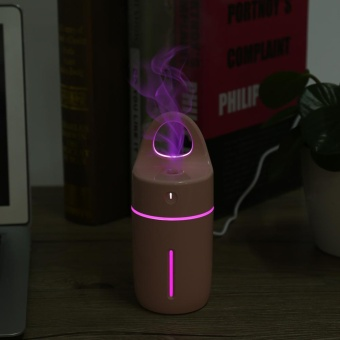 Portable Car Home USB Colorful Night Light Cup Shape Humidifier AirDiffuser Mist Maker Pink - intl