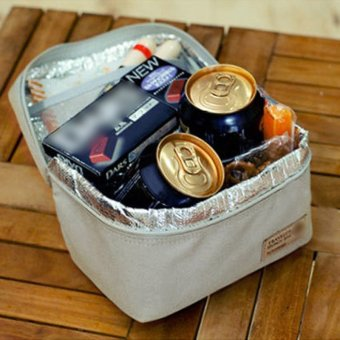 portable insulated thermal cooler bento lunch box tote picnic grey lazada singapore. Black Bedroom Furniture Sets. Home Design Ideas