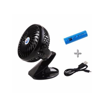 Pram?Stroller Fan?Rechargeable Clip-on Fan (Black)