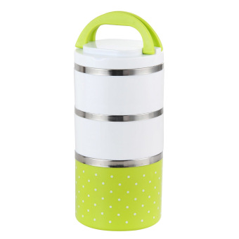 stainless steel insulation bento lunch box green 1230ml lazada singapore. Black Bedroom Furniture Sets. Home Design Ideas
