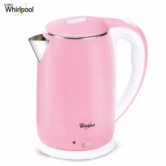 Whirlpool 2L Stainless Steel Electric Kettle with Keep Warm Function - Powder Pink