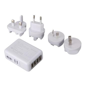 2.1A 4 USB Port Universal Portable Travel AC Plug Home Wall Power Charger - intl