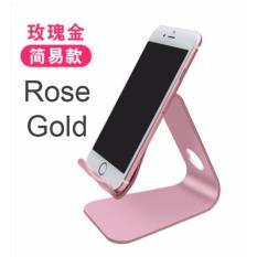 aluminium alloy handphone smartphone table stand holder rose gold