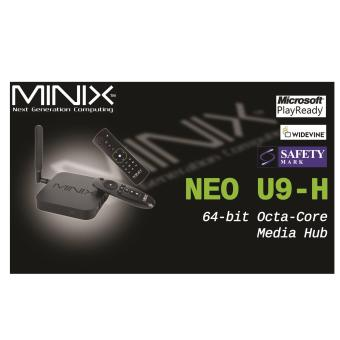 Android MiniX Neo U9-H (Newest) 4K TV Media Box + A2 Lite Air Mouse