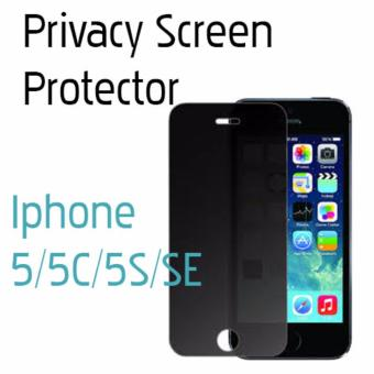 Apple Iphone 5/5S/5C/SE Anti Spy Privacy Full Cover Tempered Glass(1 pc)