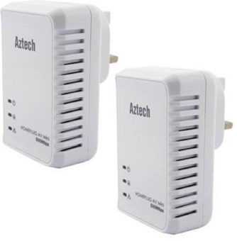 Aztech HL117E-T Homeplug AV 500Mbps Ethernet Adapter
