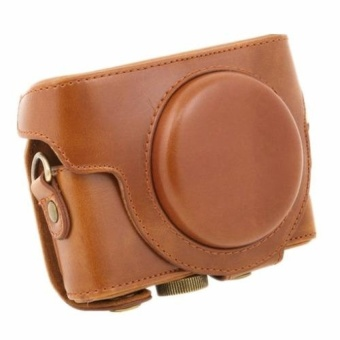 Brown Camera PU Leather Case Cover Bag for Sony DCS-RX100 IIM3M4(Intl) - intl