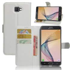 BYT Leather Flip Cover Case for Samsung Galaxy J7 Prime (White) - intl
