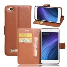 4a Source BYT Flower Debossed Leather Flip Cover Case for Xiaomi Redmi Note .
