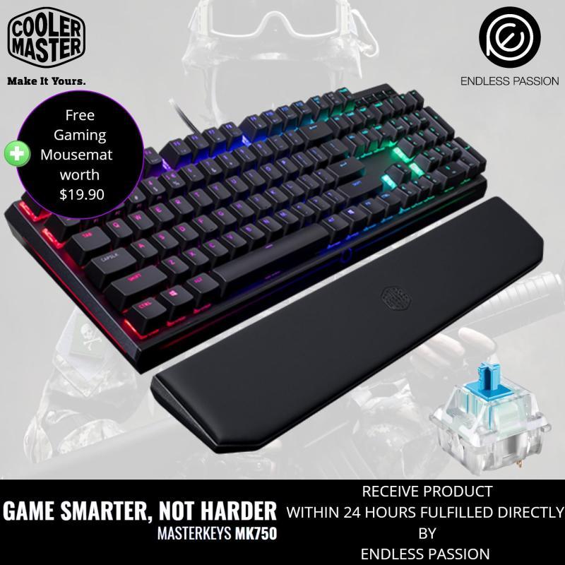 Cooler Master MasterKeys MK750 RGB LED Mechanical Gaming Keyboard (MX Cherry Brown/Blue/Red) Singapore