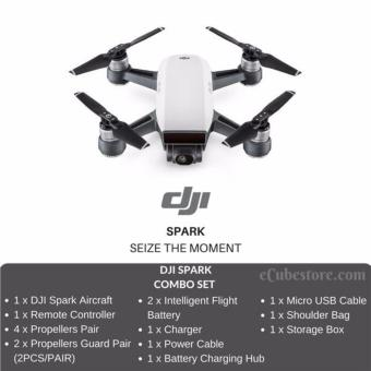 DJI SPARK With Flymore Combo | Alpine White | 1080P | 1 Local Year Warranty