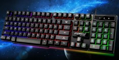Floating Colorful Light Mechanical Feel Game Backlit Gaming Keyboard - intl Singapore