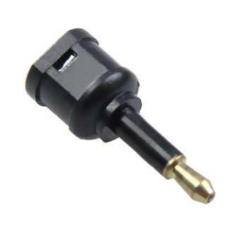 Gold Plated TOSLINK to 3.5mm Fiber Optic Optical Cable Plug Adaptor Black
