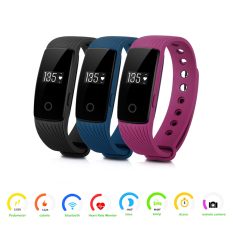Heart Rate Bluetooth Sports Bracelet Smart Waist Band Smartwatch(purple) - Intl
