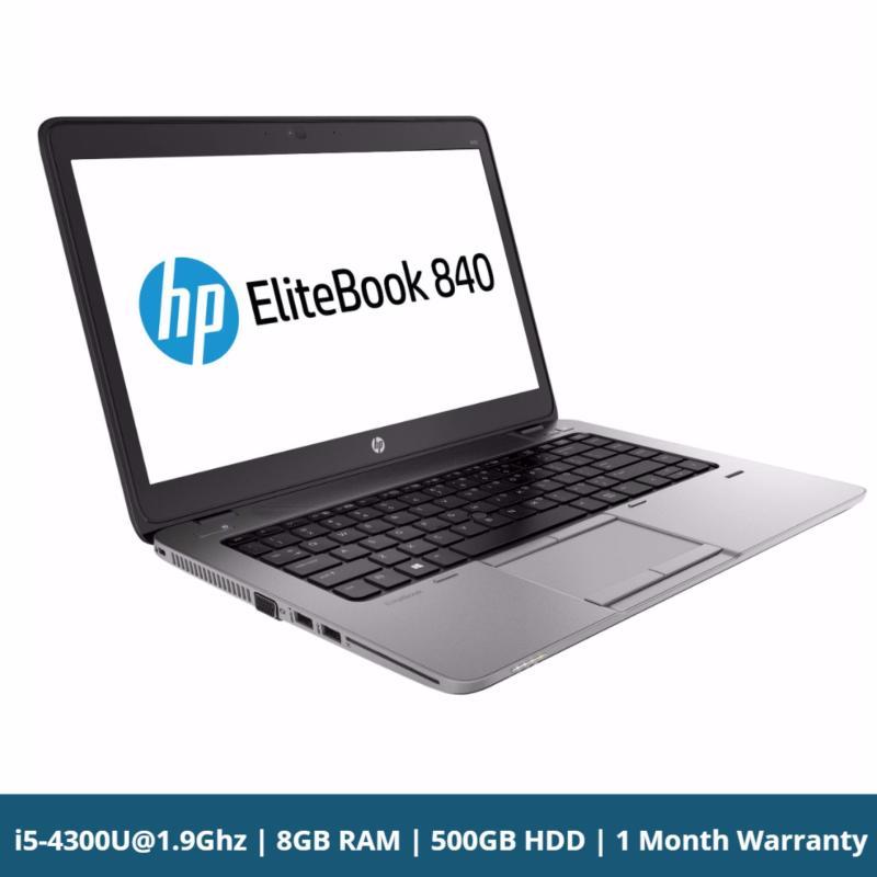 HP Elitebook 840 G1 14in Core i5-4300U@1.9Ghz 4th Gen 8GB RAM 500GB HDD Win 10 Pro Bluetooth Webcam Used