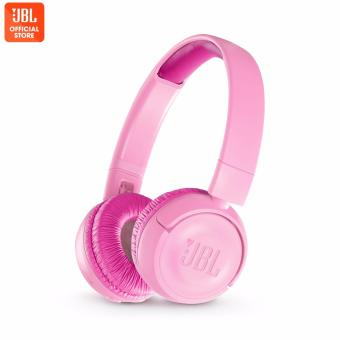 JBL JR300BT Pink Kids Wireless on-ear headphones with safe sound <85dB