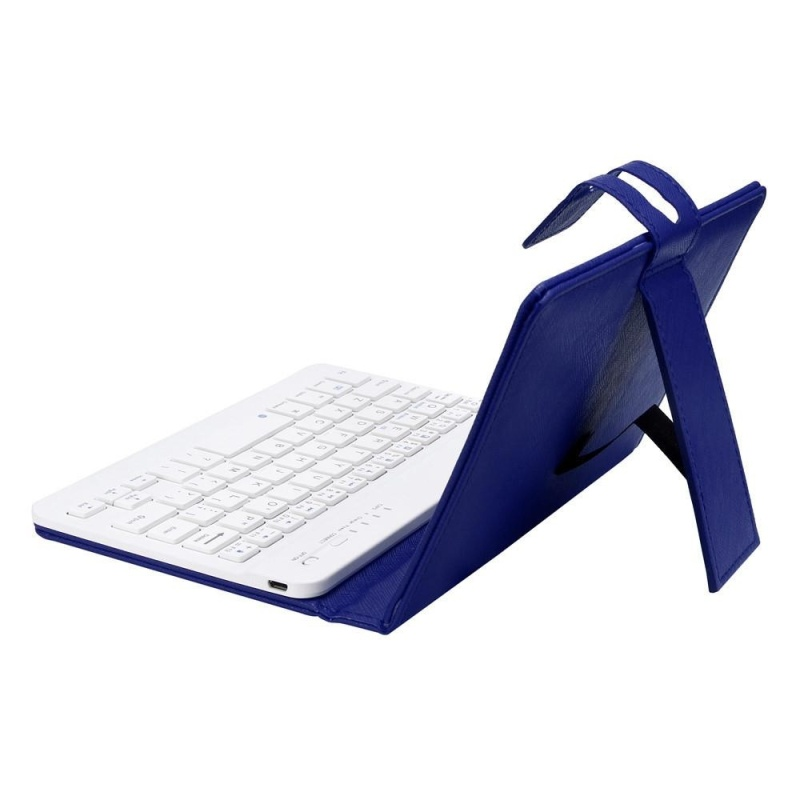 Leather With Detachable Bluetooth Keyboard For 5-7Inch IOS, Android Phone BU - intl Singapore