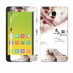 Luxury 3D Painting Front Back Full Case Cover Color Tempered Glass Case For .