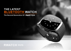 M26 Bluetooth Smart Wrist Watch Sync Phone Mate For Android Ios Smartphone Black